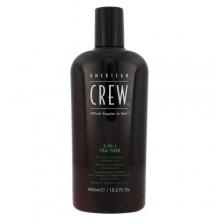 American Crew 3-IN-1 Shampoo, Conditioner & Body Wash Tea Tree Cosmetic 450ml miehille 15241
