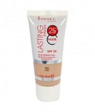Rimmel London Lasting Finish 25h Nude Foundation Cosmetic 30ml 100 Ivory naisille 51509