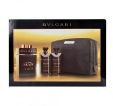 Bvlgari Man In Black Edp 100ml + 75ml after shave balm + 75ml shower gel + cosmetic bag miehille 90149