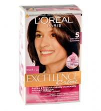 L´Oréal Paris Excellence Creme Hair Color 48ml 500 Natural Brown naisille 16667