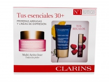 Clarins Multi-Active Daily Facial Cream 50 ml+ Night Facial Cream Multi-Active Nuit 15 ml + Lip Gloss Comfort Oil 2,8 ml 02 naisille 66832