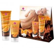 Dermacol Aroma Ritual Belgian Chocolate 7981 150ml AR Harmonizing Body Scrub + 250ml AR Harmonizing Shower Gel naisille 04654