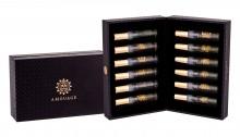 Amouage Vials Box for Men 2ml Gold+2ml Reflection+2ml Jubilation XXV+2ml Lyric+2ml Epic+2ml Memoir+2ml Honour+2ml Interlude+2ml Fate+2ml Journey+2ml Myths+2ml Figment miehille 21608