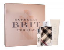 Burberry Brit for Her Edp 100 ml + Edp 7,5 ml + Body lotion 75 ml naisille 52016