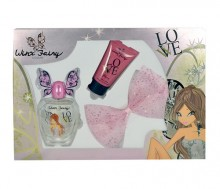 Winx Fairy Couture Flora Edt 100ml + 75ml body lotion + hair clip naisille 29327