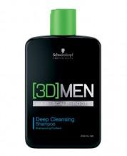 Schwarzkopf 3DMEN Shampoo 250ml miehille 64463