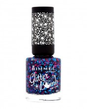 Rimmel London Glitter Bomb Top Coat Cosmetic 8ml 020 Midnight Mistletoe naisille 77792
