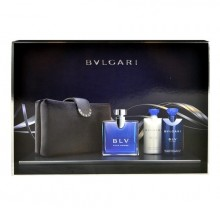 Bvlgari BLV Edt 100ml + 75ml aftershave balm + 75ml shower gel + cosmetic bag miehille 05042