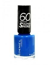 Rimmel London 60 Seconds Super Shine Nail Polish Cosmetic 8ml 823 Blindfold Me Blue naisille 17244