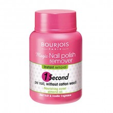 BOURJOIS Paris 1 Second Nail Polish Remover 75ml naisille 83104