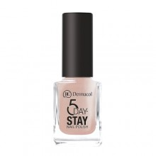 Dermacol 5 Day Stay Longlasting Nail Polish Cosmetic 11ml 12 Coffee Break naisille 59323