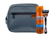Gillette Fusion Proglide Shave Machine With One Head 1 pcs + Shave Gel 200 ml + Cosmetic Bag miehille 51210
