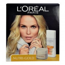 L´Oreal Paris Nutri Gold 50ml Nutri Gold Day Cream + 200ml Sublime Glow Cleansing Milk naisille 48405