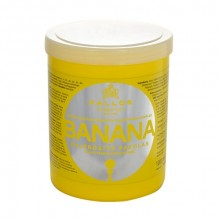 Kallos Banana Fortifying Hair Mask Cosmetic 1000ml naisille 11104