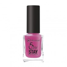 Dermacol 5 Day Stay Longlasting Nail Polish Cosmetic 11ml 17 Pink Affair naisille 59378