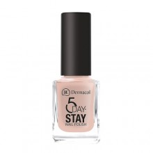 Dermacol 5 Day Stay Longlasting Nail Polish Cosmetic 11ml 08 Nude Skin naisille 59286