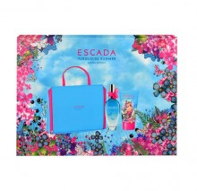 Escada Turquoise Summer EDT 50ml + 50ml body lotion + cosmetic bag naisille 05815