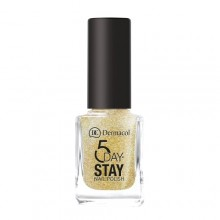 Dermacol 5 Day Stay Longlasting Nail Polish Cosmetic 11ml 14 Gold Tiara naisille 59347