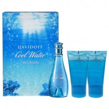 Davidoff Cool Water Edt 30ml + 50ml Shower gel + 50ml Body lotion naisille 82439