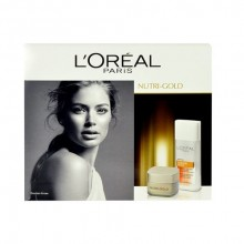 L´Oreal Paris Nutri Gold Day Cream 50ml Nutri Gold Day Cream + 200ml Sublime Glow Cleansing Milk naisille 85257