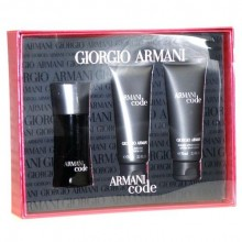 Giorgio Armani Black Code Edt 50ml + 75ml After shave balm + 75ml Shower gel miehille 10778