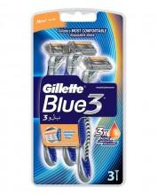 Gillette Blue3 Razor 3pc miehille 20324
