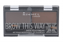 Rimmel London Brow This Way Set and Pallette For Eyebrows 2,4g 002 Medium Brown naisille 35037