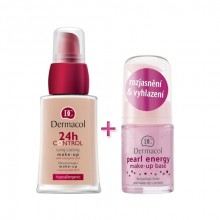 Dermacol 24h Control Make-Up 30ml 24h Control Make-Up + 15ml Pearl Energy Make-up Base 3 naisille 09024