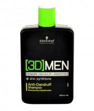 Schwarzkopf 3DMEN Shampoo 250ml miehille 64449