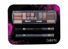 2K Night & Day Eye Shadow Palette 8,16 g + Eyeliner Pencil 0,6 g Black + Eyeliner Pencil 0,6 g Grey Dawn naisille 44391