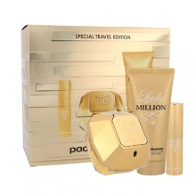 Paco Rabanne Lady Million Edp 80 ml + Body Lotion 100 ml + Edp 10 ml naisille 35101