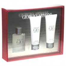 Giorgio Armani Acqua di Gio Edt 50ml + 75ml After shave balm + 75ml Shower gel miehille 66584