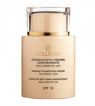 Collistar Evening Foundation + Primer Makeup 35ml 1 Ivory naisille 33715