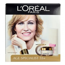 L´Oreal Paris Age Specialist 55+ 50ml Age Specialist 55+ Day Cream + 200ml Sublime Soft Cleansing Milk naisille 48450