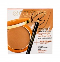 Collistar Tanning Compact Cream Cream Powder 9 g + Eyeliner 0,80 g 3 Mauritius naisille 61067