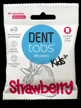DENTTABS GmbH Denttabs teeth cleaning tablets with fluoride - strawberry flavored 125tbl