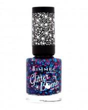 Rimmel London Glitter Bomb Top Coat Cosmetic 8ml 018 Disco Fever naisille 77778
