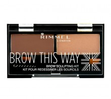 Rimmel London Brow This Way Set and Pallette For Eyebrows 2,4g 003 Dark Brown naisille 35044