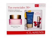 Clarins Multi-Active Daily Facial Cream 50 ml+ Night Facial Cream Multi-Active Nuit 15 ml + Lip Gloss Comfort Oil 2,8 ml 02 naisille 66849