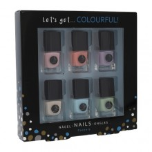 2K Let´s Get Colourful! Pastels Nail Polish Nail Polish 6 x 5 ml naisille 41703