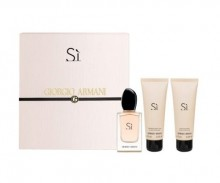 Giorgio Armani Si Edp 50ml + 75ml Body lotion + 75ml Shower gel naisille 81390