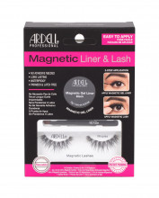Ardell Magnetic Liner & Lash Magnetic Lashes Wispies 1 pair + Magnetic Gel Line 2 g Black + Liner Brush 1 pc Black naisille 68508
