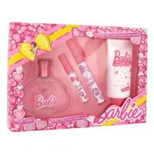 Barbie Barbie EDT 100 ml + EDT 9,5 ml + lip gloss 2,5 ml + body lotion 150 ml miehille 61925