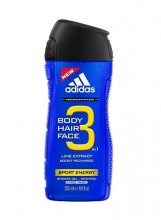 Adidas 3in1 Sport Energy Shower gel 250ml miehille 20111