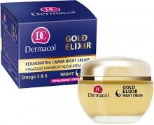 Dermacol Gold Elixir Rejuvenating Caviar Night Cream Cosmetic 50ml naisille 29127