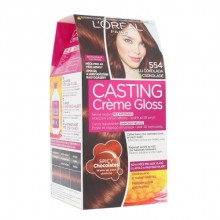 L´Oréal Paris Casting Creme Gloss Hair Color 1pc 554 Chilli Chocolate naisille 04965