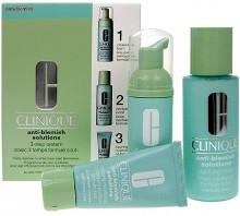 Clinique Anti-Blemish Solutions 50ml Anti-blemish Solutions Cleansing Foam + 100ml Anti-Blemish Solutions Clarifying Lotion +30ml Anti-Blemish Solutions Clearin naisille 91853