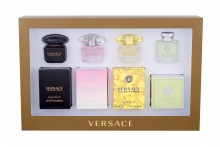 Versace Mini Set 4 Edt Versense 5 ml + Edt Yellow Diamond 5 ml + Edt Bright Crystal 5 ml + Edt Crystal Noir 5 ml naisille 43299