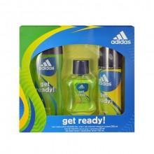 Adidas Get Ready! Edt 50ml + 250ml shower gel + 150ml deodorant miehille 63895