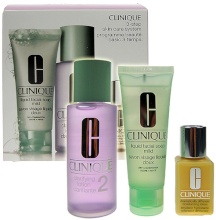 Clinique 3-Step Skin Care 2 50ml Liquid Facial Soap Mild + 100ml Clarifying Lotion 2 + 30ml DDML naisille 64066